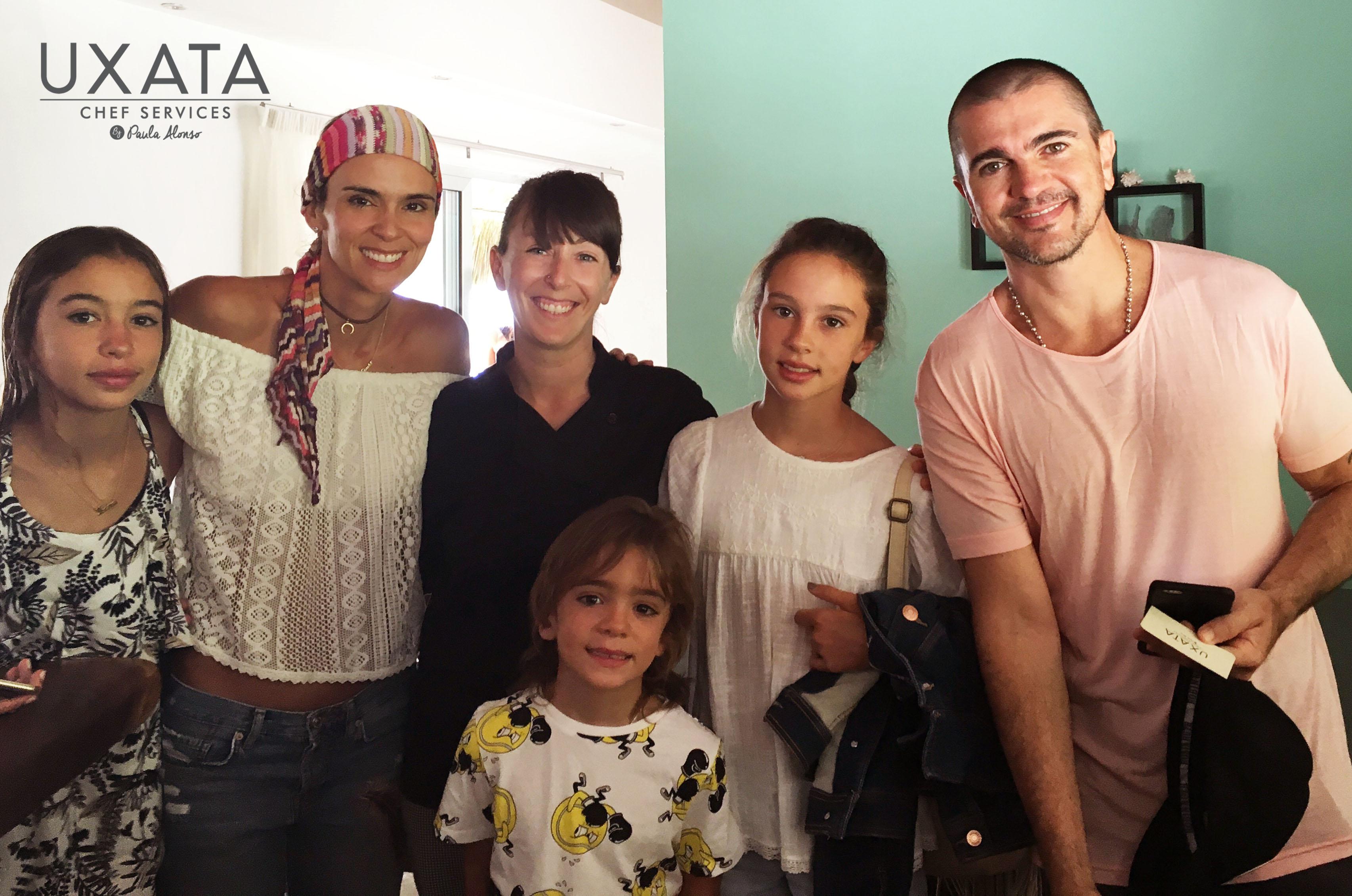 Juanes y familia en Tulum by UXATA Chef Services