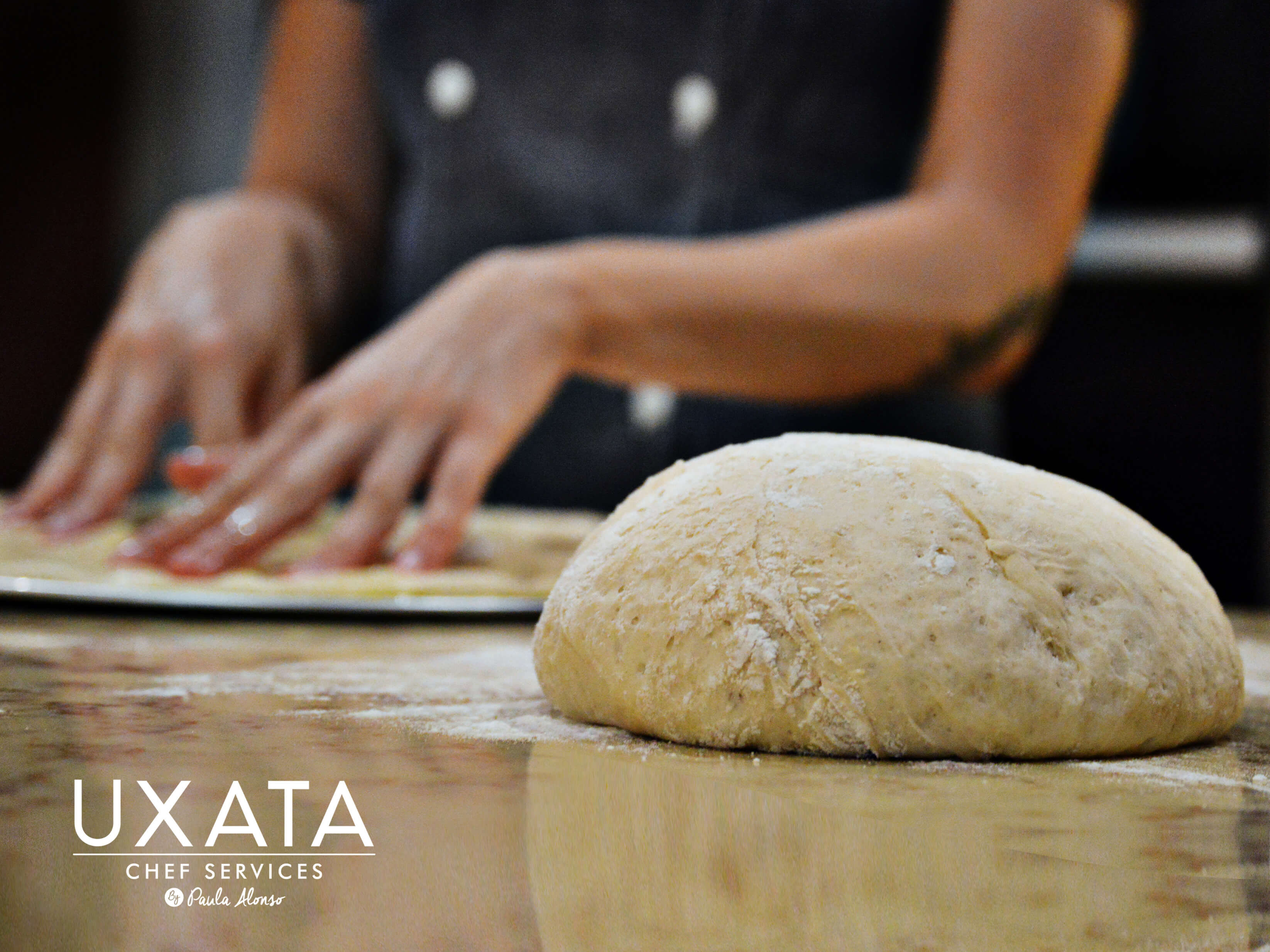 UXATA Private Chef Services making pizzas