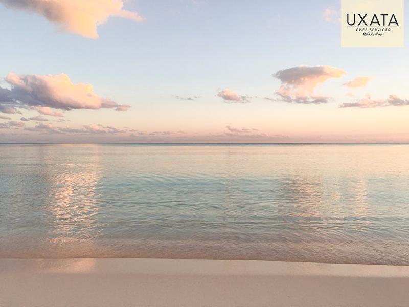 La costa serena de Xpu Ha, Riviera Maya, Mexico