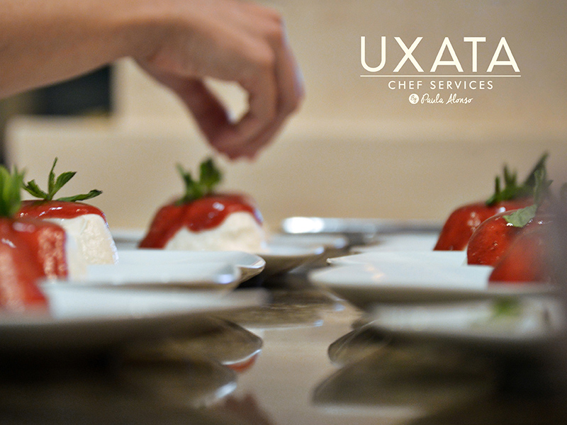 Panna cotta with red fruit coulis by UXATA Private Chef Services, Punta Maroma.