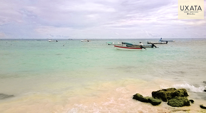 Some boats and boat in Paa Mul, Riviera Maya