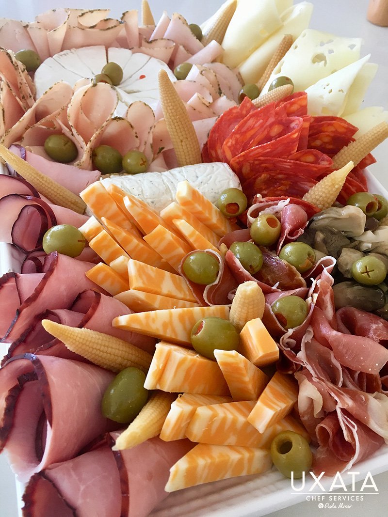 Cold meats, olives, cheeses and snacks tray by UXATA Private Chef Services
