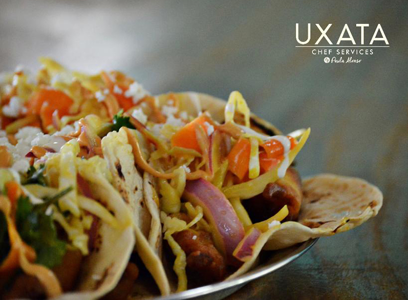 Close-up of tacos for lunch, in Punta Maroma, by UXATA Private Chef Services.