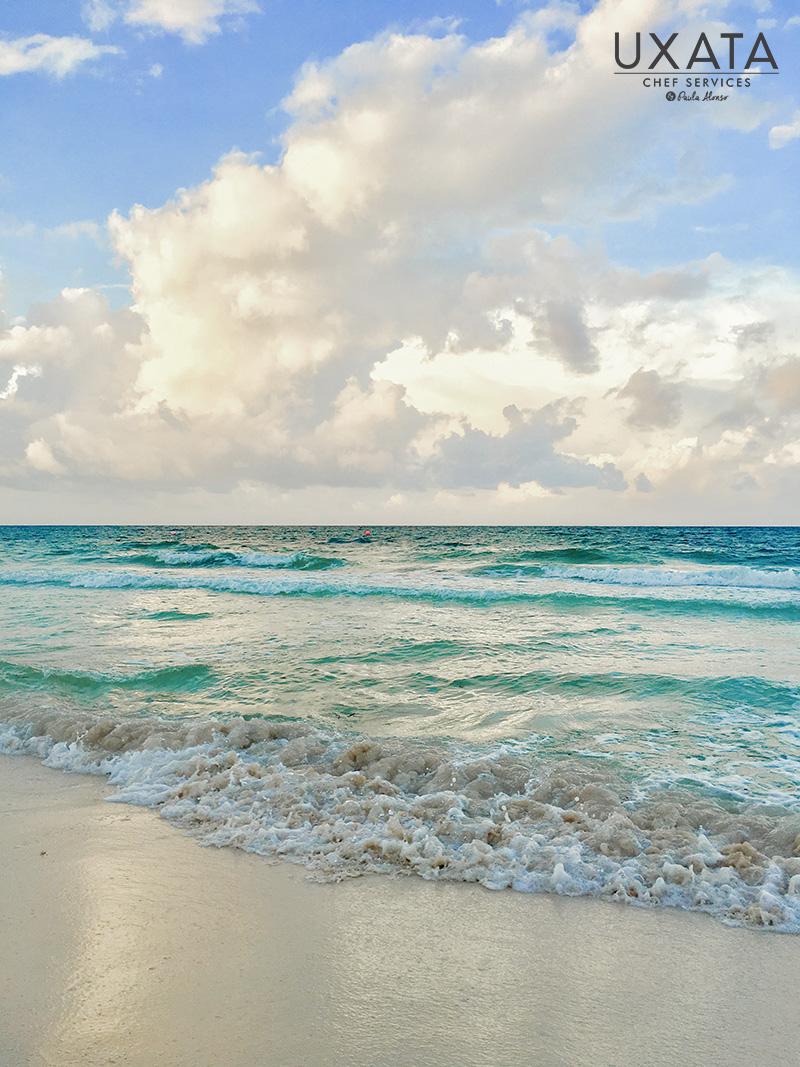 Waves on the Tankah coast, Riviera Maya, Mexico.