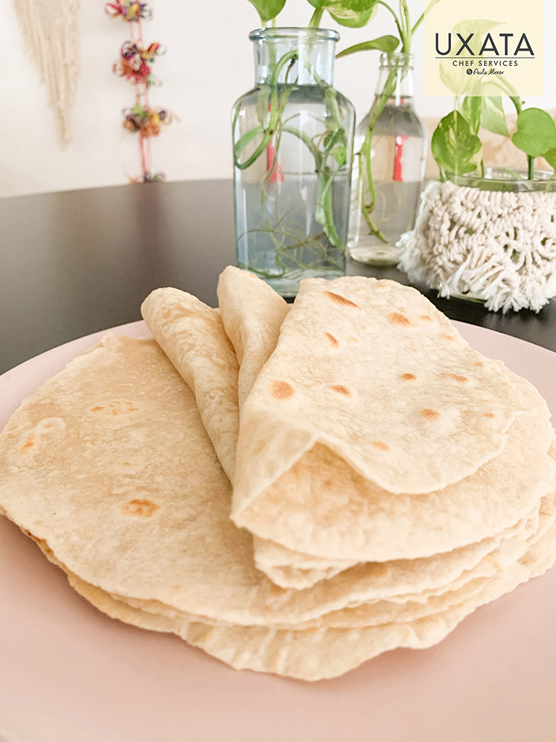 Several mexican flour tortillas, by UXATA Private Chef Services